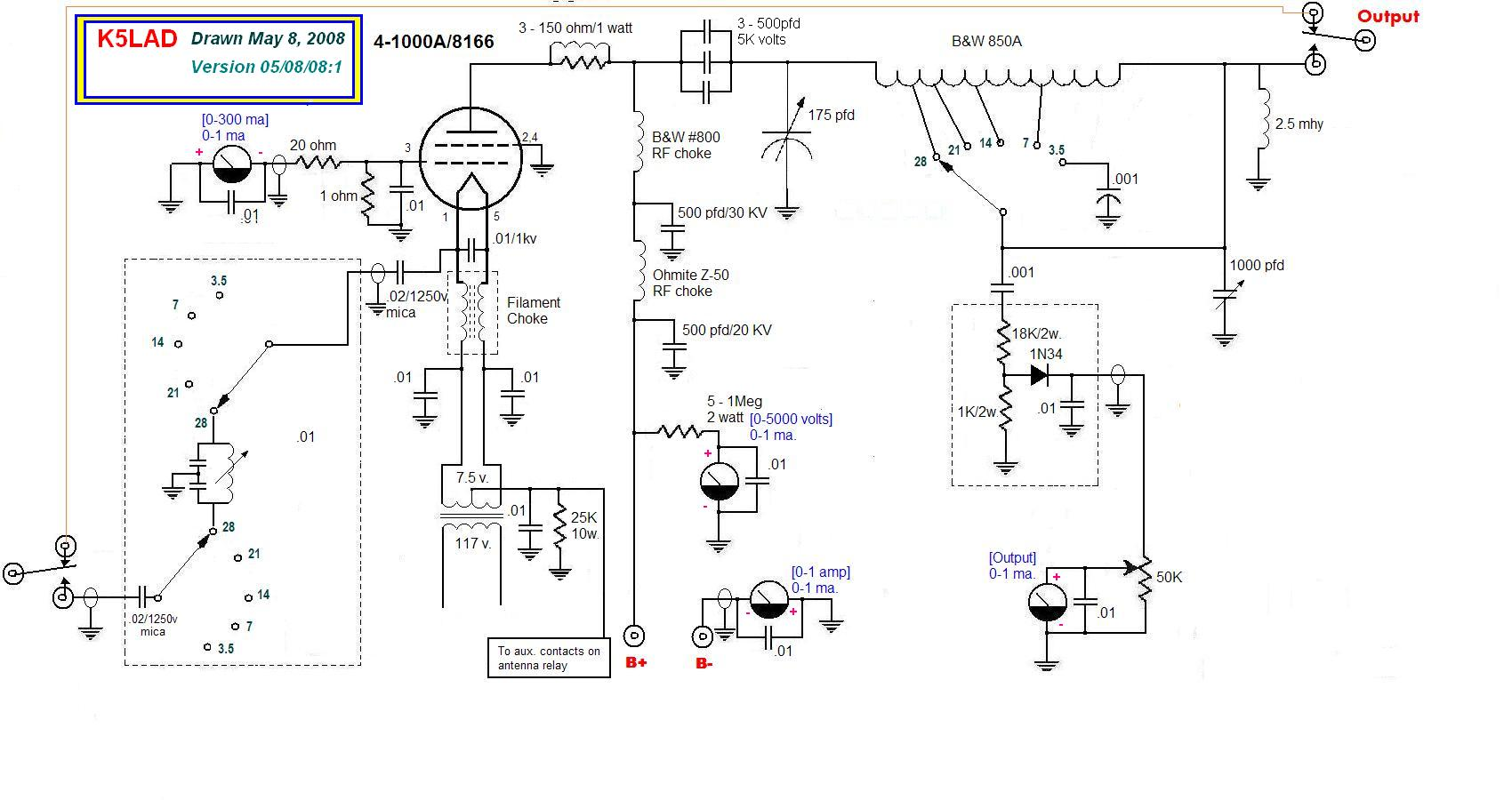 Building The 4 1000a Amplifier Power Transformer Wiring Diagram Click To Download Schematic