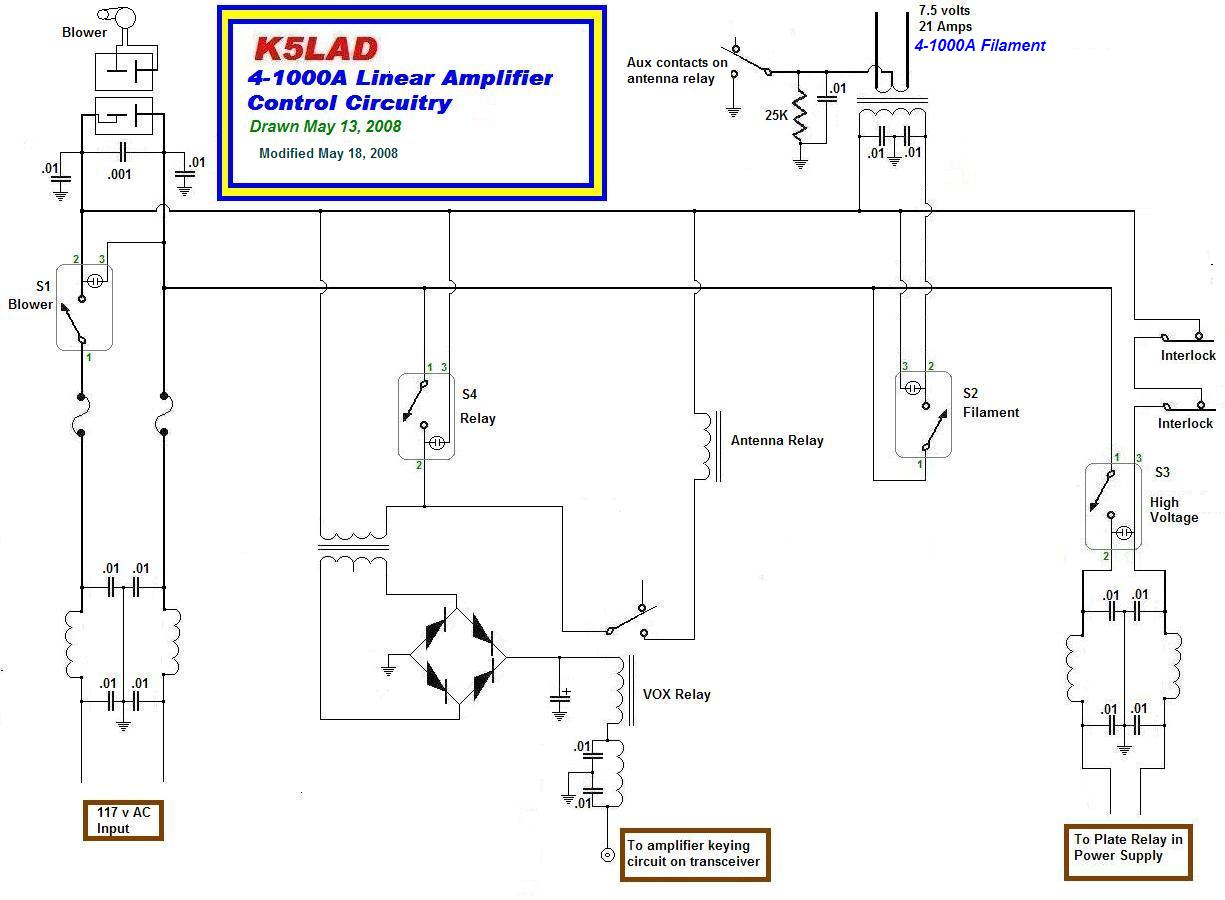 Building The 4 1000a Amplifier Transformer Circuit Tube Lifier Atx Power Supply Schematic And Click To Download Control